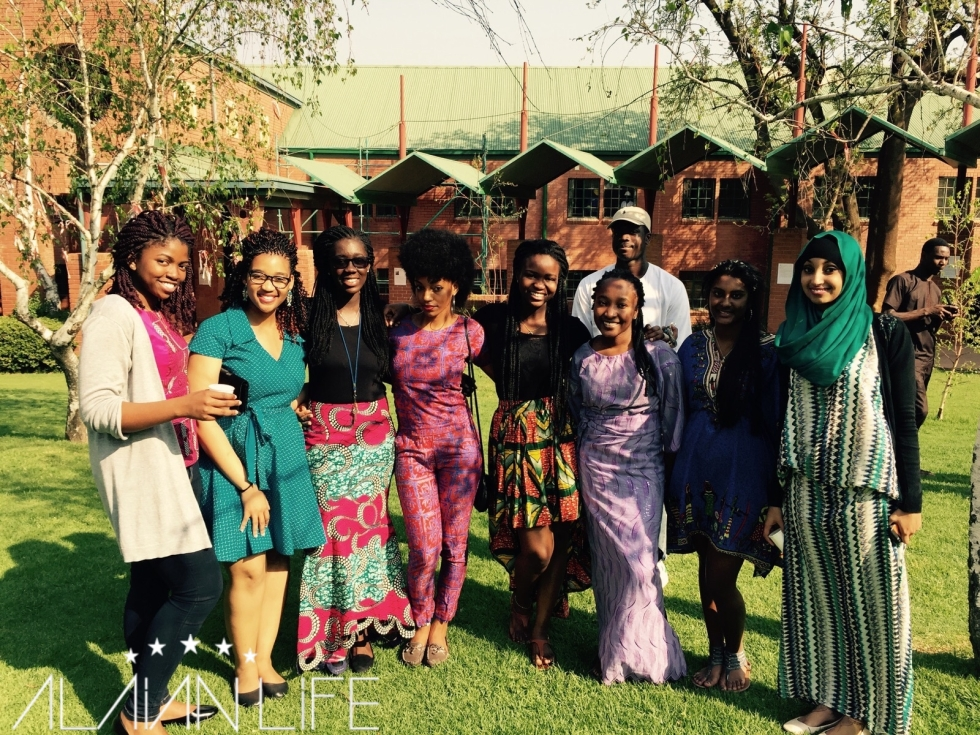 Raissa, Thandie, Samantha, Arlene, Portia, Temilayo, Anjaana & Suleikha. Daminyi with that photobomb.